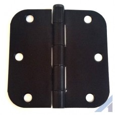 "3.5"" X 3 1/2"" Oil Rubbed Bronze Hinge with 5/8"" radius screws included"