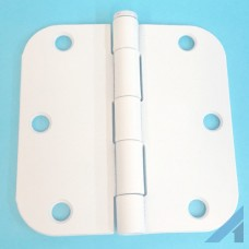 "3.5"" X 3 1/2"" White Hinge with 5/8"" radius screws included"