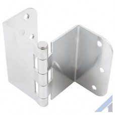 3.5 Inch Swing Clear Offset Door Hinge Polished Chrome 5/8 Inch Radius