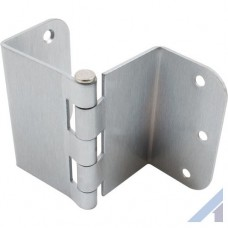 3.5 Inch Swing Clear Offset Door Hinge Satin Chrome 5/8 Inch Radius
