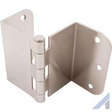 3.5 Inch Swing Clear Offset Door Hinge Satin Nickel 5/8 Inch Radius