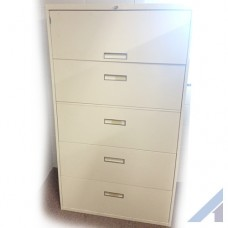 Allsteel 5 Drawer Cabinet with Key