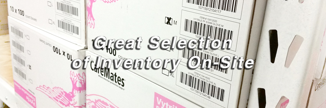 Great Selection of Inventory On-SIte
