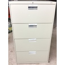 4 Drawer Narrow Lateral Filing Cabinet with Lock
