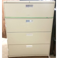 4 Drawer Lateral Filing Cabinet with Lock
