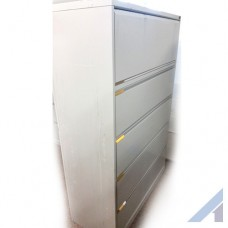 KI 5 Drawer Lockable Cabinets Grey
