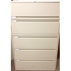 KI Lateral 5 Drawer Filing Cabinets File Cabinet lock & keys
