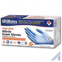 UltiMates High Risk Nitrile Gloves – 500 count case - 8 mil thickness XX-large